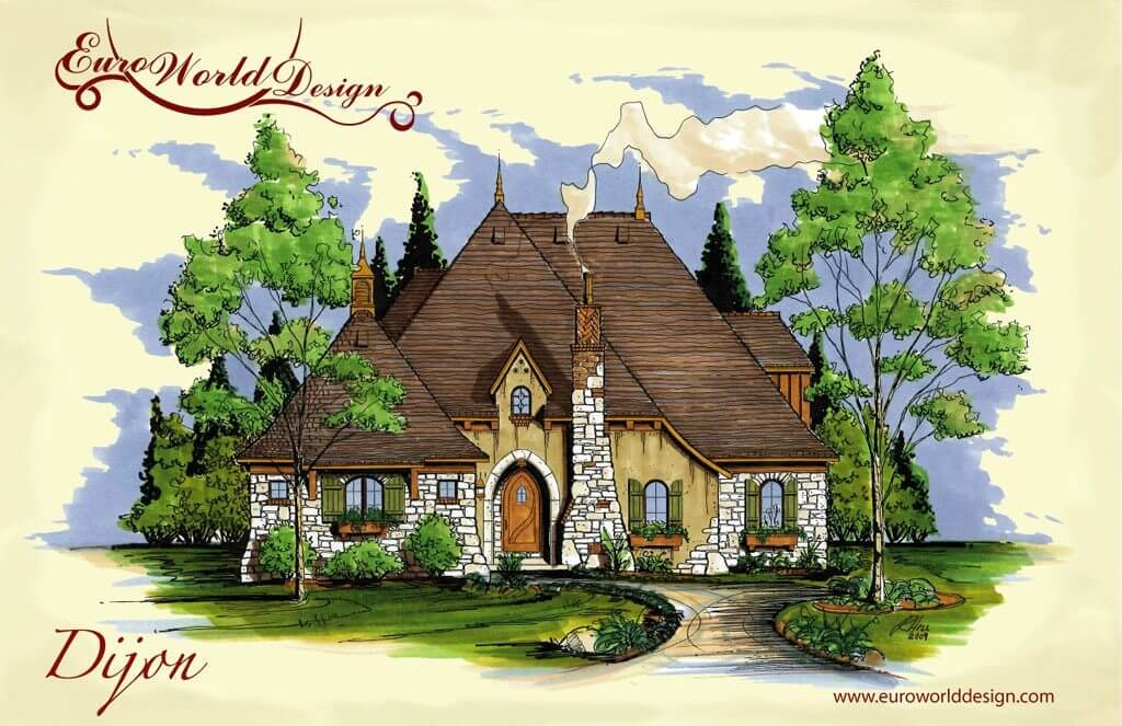 Storybook house plans storybook cottage style house plans for Storybook cottage plans