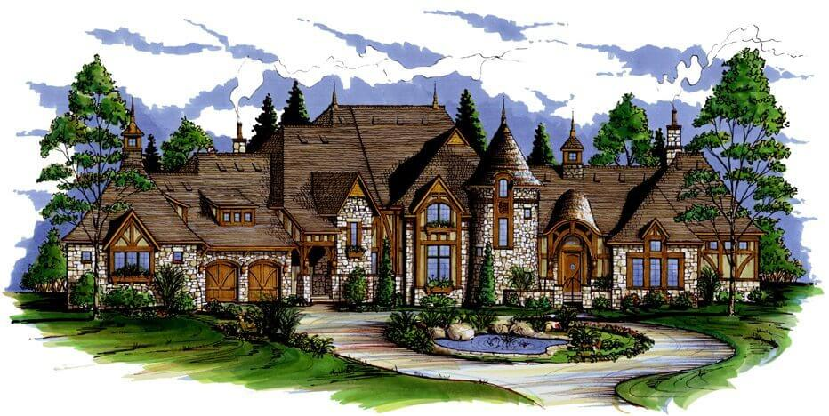 Euro world design we design homes with the character for Old world style house plans