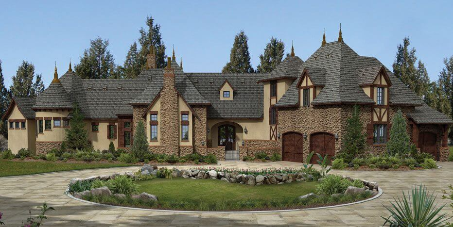 Euro world design we design homes with the character for Old world house plans